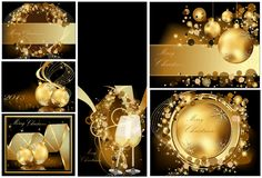 Gold Merry Christmas background Royalty Free Stock Photos