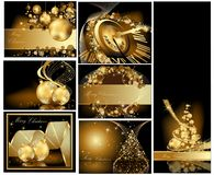 Gold Merry Christmas background Stock Image
