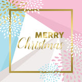 Gold Merry christmas design for greeting card Royalty Free Stock Image