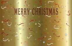 Gold Merry Christmas royalty free stock photos