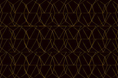 Gold mesh on black background seamless pattern Stock Image