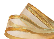 Gold mesh ribbon Royalty Free Stock Photo
