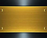 Gold metal. Polished gold metal background texture stock illustration