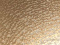 Gold metal background with circular pattern Stock Photography