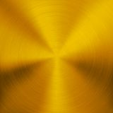 Gold Metal Background with Circular Texture Royalty Free Stock Photography
