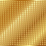 Gold metal background with rivets Stock Images