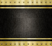 Gold metal background texture Stock Photography