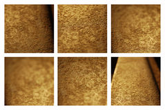 Gold metal backgrounds set Royalty Free Stock Photos
