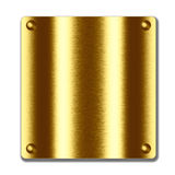 Gold metal board. empty texture to design Stock Photos