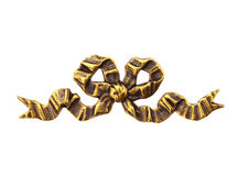 Gold Metal Bow royalty free stock photography