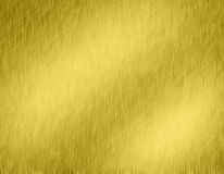 Gold metal brushed background. Or texture of steel plate with reflections Iron plate and shiny Stock Photo
