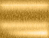 Gold metal brushed background Stock Photography
