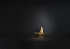Gold metal Buddha Royalty Free Stock Images