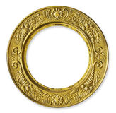 Gold Metal Circle Frame stock photography