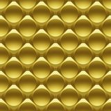 Gold metal circles seamless 3D pattern Royalty Free Stock Image