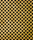 Gold metal with cross black hole Stock Photography