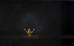 Gold metal crown Stock Photos