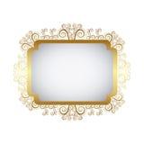 gold metal emblem icon Royalty Free Stock Photos