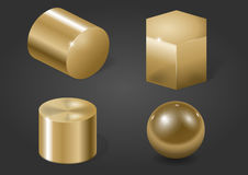 Gold metal forms Stock Image