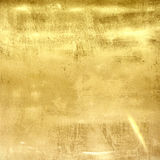 Gold metal grunge wall texture Stock Photography