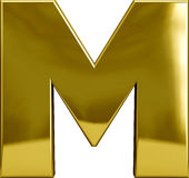 Gold Metal Letter M Royalty Free Stock Photo