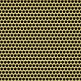 Gold metal mesh background Royalty Free Stock Images