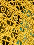 Gold metal pattern in gate Royalty Free Stock Photos