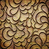 Gold metal pattern on paper backgrond Stock Image
