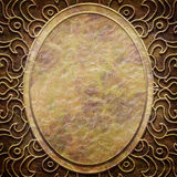 Gold metal pattern on paper backgrond Royalty Free Stock Photos