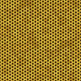 Gold metal perforated sheet seamless pattern texture background with honeycomb hexagon Stock Photos