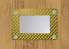 Gold metal plaque Stock Images