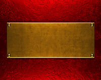 Gold metal plate background. Or texture Royalty Free Stock Photography