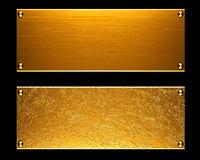 Gold metal plate background. Or texture vector illustration