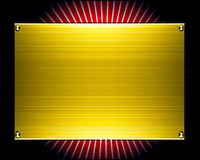 Gold metal plate background Stock Image