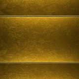 Gold metal plate background Stock Photos