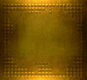 Gold metal plate background Royalty Free Stock Image