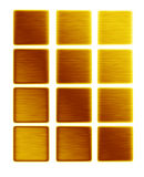Gold metal push buttons bars of gold collection stock illustration