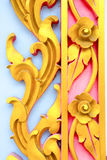 Gold metal sculpture of flowers Royalty Free Stock Photo