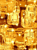 Gold metal squares Royalty Free Stock Photography