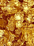 Gold metal squares Stock Photography