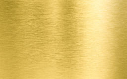 Gold metal texture. Golden brushed metal texture or background Stock Image