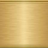 Gold metal texture plaque Stock Images