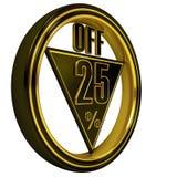 Gold Metal Twenty Five Percent Royalty Free Stock Image