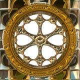 Gold metal wheel Stock Photography