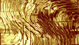 Gold metallic background Royalty Free Stock Photography