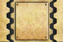 Gold metallic background for design, texture bronze or brass. Metal sheets, the background for design, bronze or brass Royalty Free Stock Photo