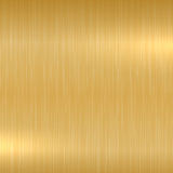 Gold metallic background. Polished texture. Royalty Free Stock Images