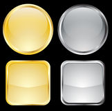 Gold and metallic buttons Stock Photo