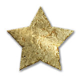 Gold metallic grunge star Stock Image