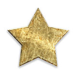 Gold metallic grunge star Royalty Free Stock Image